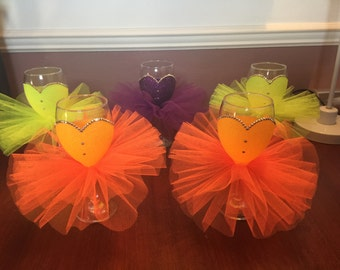 Glittered tutu glass a available in lots of colours
