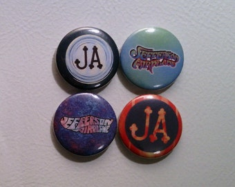 """4 x Jefferson Airplane 1"""" Pin Button Badges ( music psychedelic rock )"""