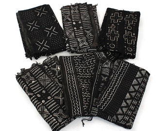Authentic Black/White African Mudcloth Fabric: Handwoven Made in Mali Bògòlanfini Value Treasures
