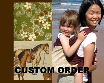 Mei Tai Baby Carrier - Custom - Brown Straps