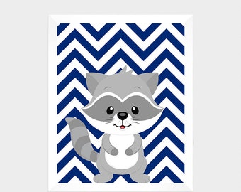 Forest Animals Raccoon, Digital Print, Printable Art, Nursery Decor, Baby Print, Instant Download, Home Decor, Nursery Wall Art, Baby Print