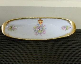 Vintage Fine China 22k Gold Westminster Australia Serving Tray/Trinket Tray/Pin Dish/Jewellery Holder/  Retro Kitchen #843-made in Australia