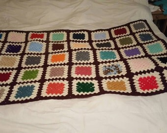 Gorgeous Retro/Vintage Color Granny Square Blanket