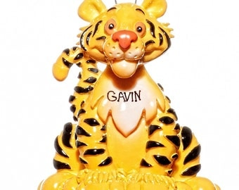 Personalized Ornament-Tiger Ornament- Free Gift Bag Included
