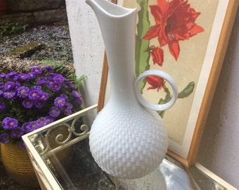 Vintage op art vase white german porcelain by Edelstein