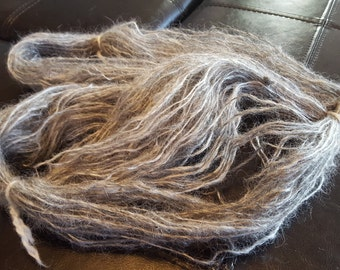 Fine single ply Grey mohair