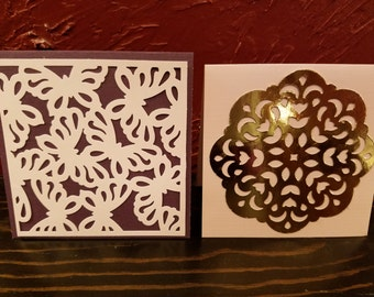 Set of 2 blank greeting cards