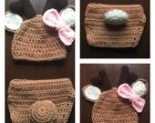 Crochet Deer Newborn Outfit