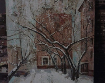"painting ""winter in Moscow"""