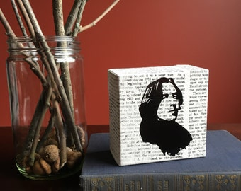 "Oscar Wilde Portrait Canvas 4""x4"""