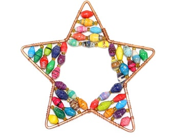 Paper Bead Star Ornament
