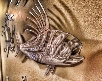 "Metal Rooster fish 25"""
