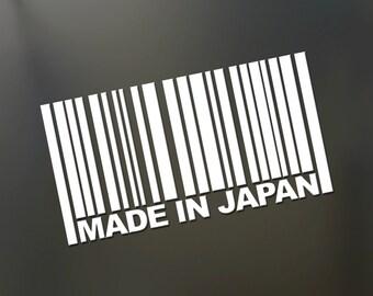 Made in japan sticker JDM slammed stance Funny drift lowered car window decal