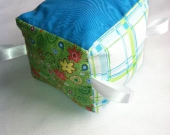 Teal/Green/Floral Soft Block