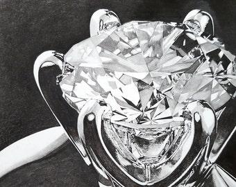"5""x7"" Custom Engagement Ring Drawing"