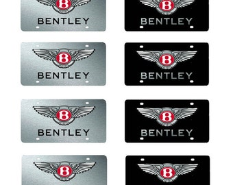 scale model Bentley toy car license tag plates
