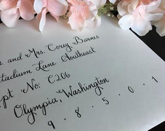 Custom Handwritten Calligraphy Envelopes