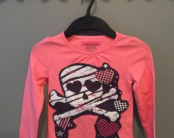 Skulls and Hearts Girl's Top
