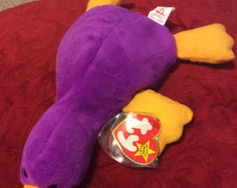 """Retired RARE Mint condition Ty """"Patti"""" platypus  beanie baby"""