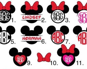 Personalized Disney Ears Decal