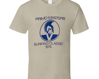 Vintage Surf T-shirt Primo Masters Surfing Classic Contest Jersey 1976