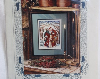 "Chapelle Designers ""Father Christmas""  Cross Stitch Instructions Only"