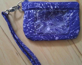 Purple ID Wristlet