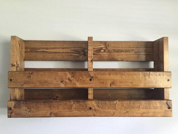 Rustic wood double menu rack