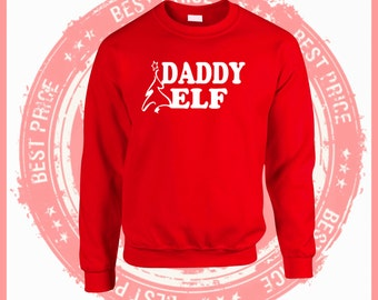 On Sale Today-Daddy Elf sweatshirt-Mommy Elf-Christmas sweater-Ugly Christmas Sweater. Ugly Sweater-Christmas sweater-ugly sweater party