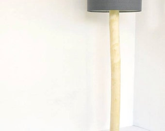 handmade wooden floor lamp