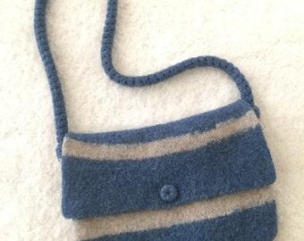 Boiled wool purse