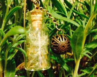 Nature dandelion vial pendant
