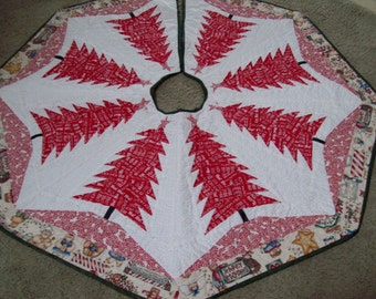 Christmas Tree Skirt #54 Quilted