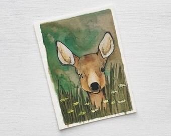 Deer - Artist Trading Card