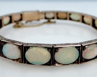 REDUCED - ON SALE Rare Victorian Gold Opal Bracelet