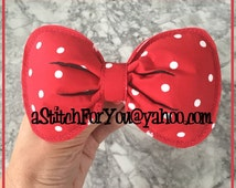 Pony Tail - Pony O ~ Ms Mouse 3d PuFFY BoW - Inspired Photo Prop Custom Personalized ~ INSTANT Download Design by Carrie