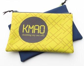 Zipper Bag, Fiber Art Geek, KMAO, Knitting My @ss Off