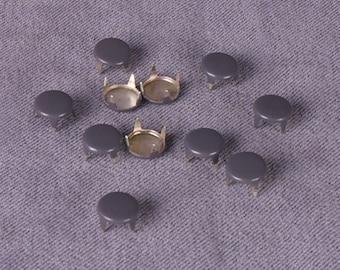 Dark Grey Metal Studs-6mm  -250 Pieces (MS6GYR3-250)