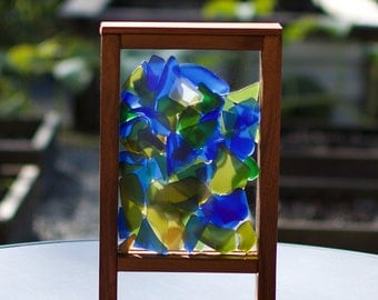 Windowsill Freestanding Kaleidoscope Sea Glass Suncatcher