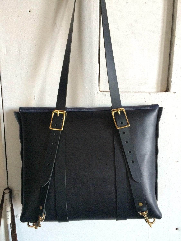 black and indigo rucksack briefcase