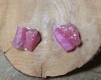 Raw Ruby Earrings posts Sterling Silver