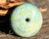 Handmade RAKU Connector Bead