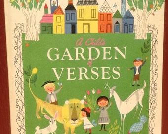 A Child's Garden of Verses a Big Golden Book + Robert Louis Stevenson + Alice and Martin Provensen + 1968 + Vintage Kids Book