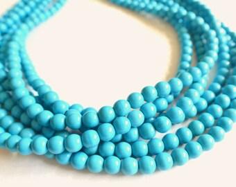 The Michelle- Blue Magnesite Statement Necklace