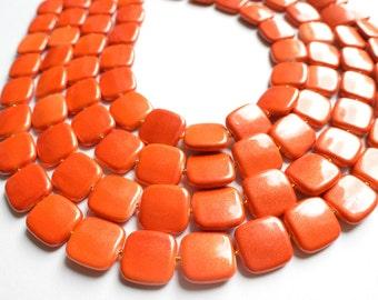 The Amber- Orange Acrylic Statement Necklace