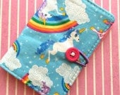 Magical Unicorns - Pocket Pouch - Small on the go - Business Card Holder / ID Case / Photo Holder