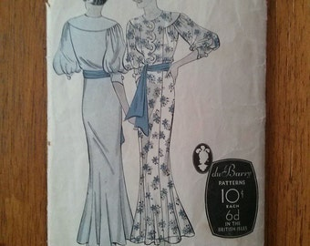Vintage 1930s Pattern Dress Du Barry 932 B32 30s Fashion 2015374
