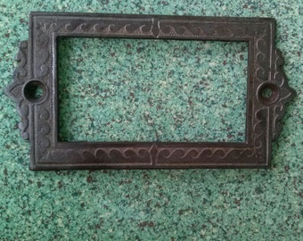 Vintage 1890s Victorian Nameplates Cast Iron 13 Plates