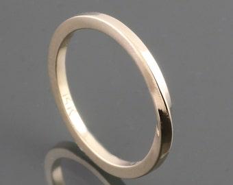 14 Karat Yellow Gold Mobius Ring - Square Shank