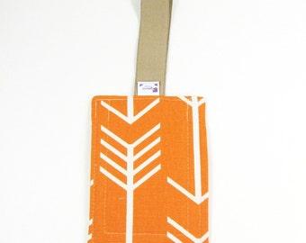 Luggage Tag / Bag Tags / Cute Luggage Tags - Orange Arrow